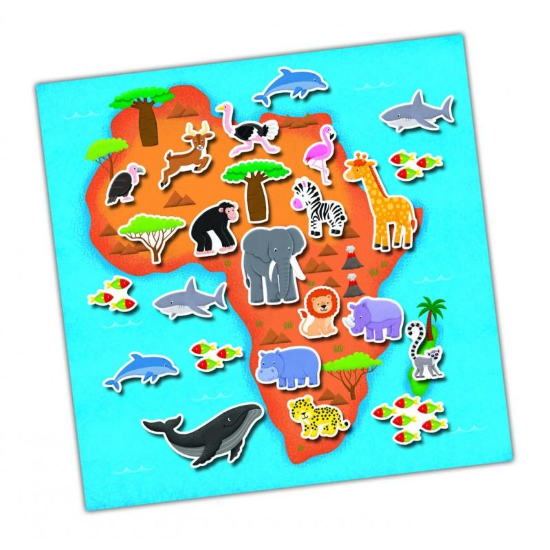 Cartea mea cu stickere Harta Galt, 21 x 21 cm, 150 abtibilduri, 3 ani+ 2021 shopu.ro