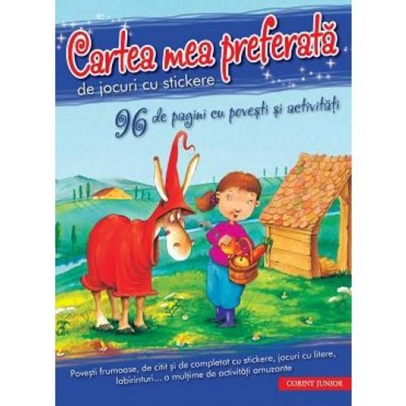 Cartea mea preferata de jocuri cu stickere, 96 pagini 2021 shopu.ro