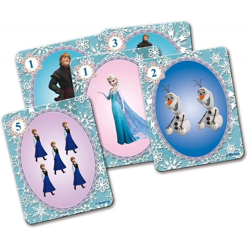 Carti de joc gigant Frozen Lisciani, 10.1 x 12.7 cm, 2 jucatori, 4 ani+ 2021 shopu.ro