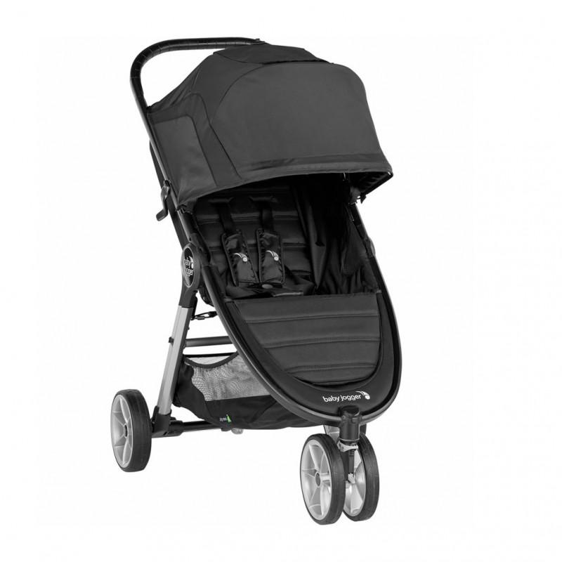 Carucior Baby Jogger City Mini 2 Jet, capotina 3 segmente, maner confortabil, roti detasabile, negru 2021 shopu.ro