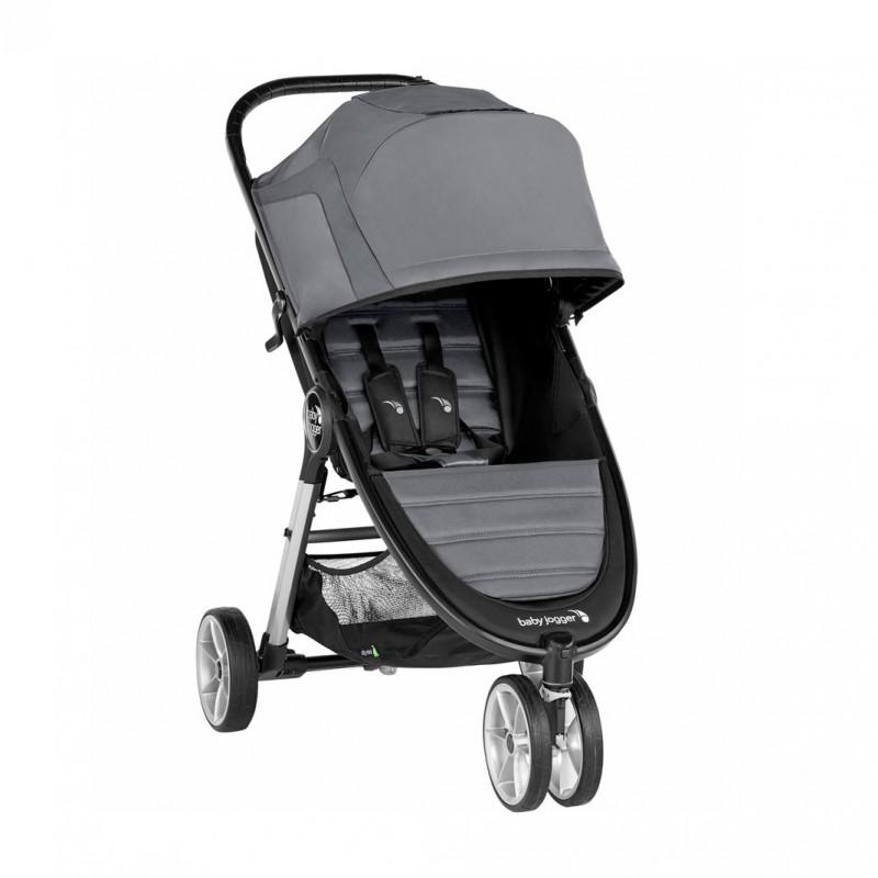 Carucior Baby Jogger City Mini 2 Jet, capotina 3 segmente, maner confortabil, roti detasabile, gri 2021 shopu.ro