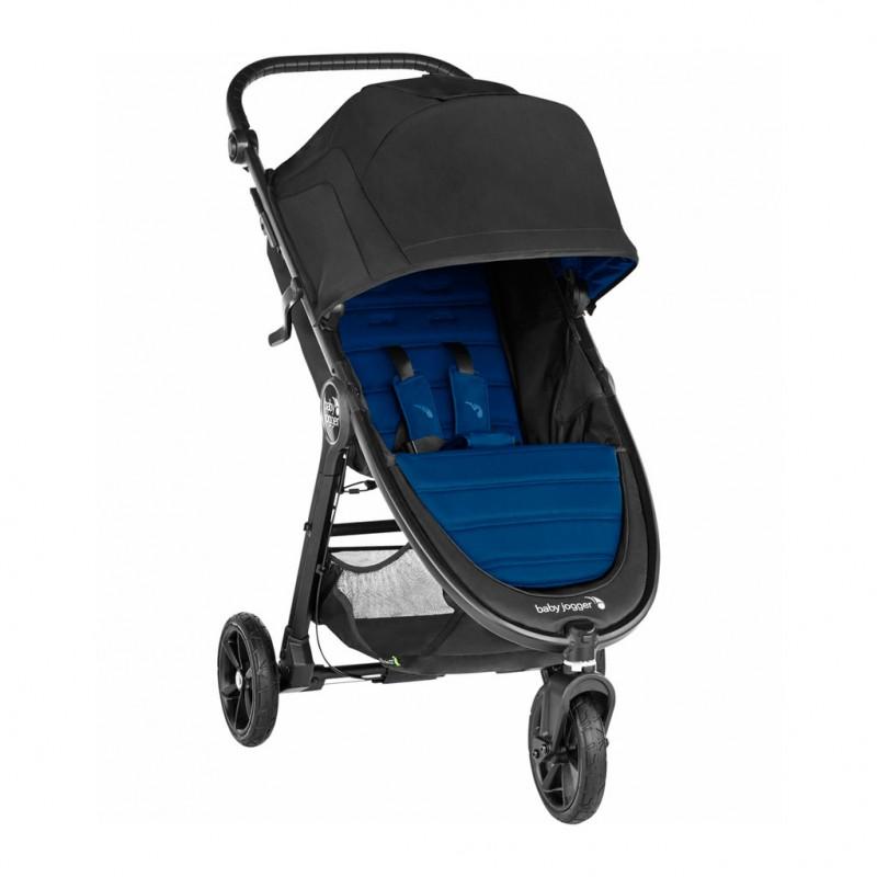 Carucior Baby Jogger City Mini GT2 Windsor, capotina 3 segmente, maner confortabil, albastru 2021 shopu.ro
