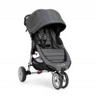 Carucior City Mini 3 Charcoal Denim Baby Jogger, sistem 2 in 1, suporta maxim 9 kg, 0 luni+