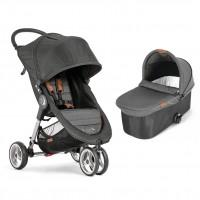 Carucior City Mini 3 Baby Jogger, sistem 2 in 1, gri