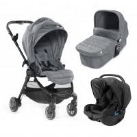 Carucior City Tour Lux Slate sistem 3 in 1 Baby Jogger, suporta maxim 20 kg, 0 luni+