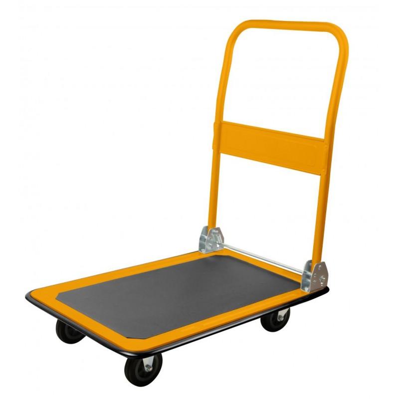 Carucior pliabil de mana cu platforma Tolsen, suporta maxim 150 kg shopu.ro