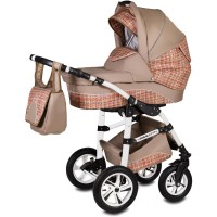 Carucior Flamingo Easy Drive 3 in 1 Vessanti, 0 luni+, Beige