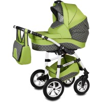 Carucior Flamingo Easy Drive 3 in 1 Vessanti, suporta 10 kg, 0 luni+, Green