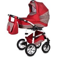Carucior Flamingo Easy Drive 3 in 1 Vessanti, 0 luni+, Red