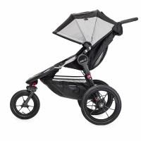 Carucior Summit X3 Black/Gray Baby Jogger, suporta maxim 75 kg, 0 luni+