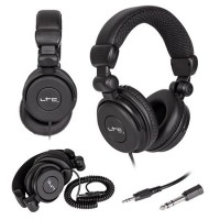 Casti profesionale pentru DJ, jack 3.5 mm, cablu 3 m, negru