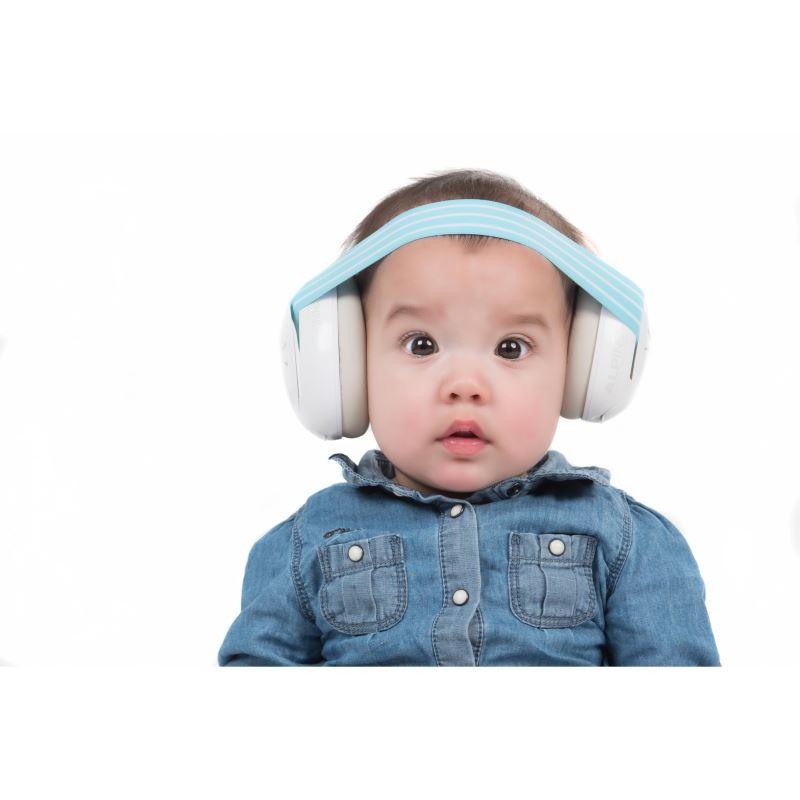 Casti antifonice pentru bebelusi Alpine Muffy, nivel atenuare 36 dB, Baby Blue