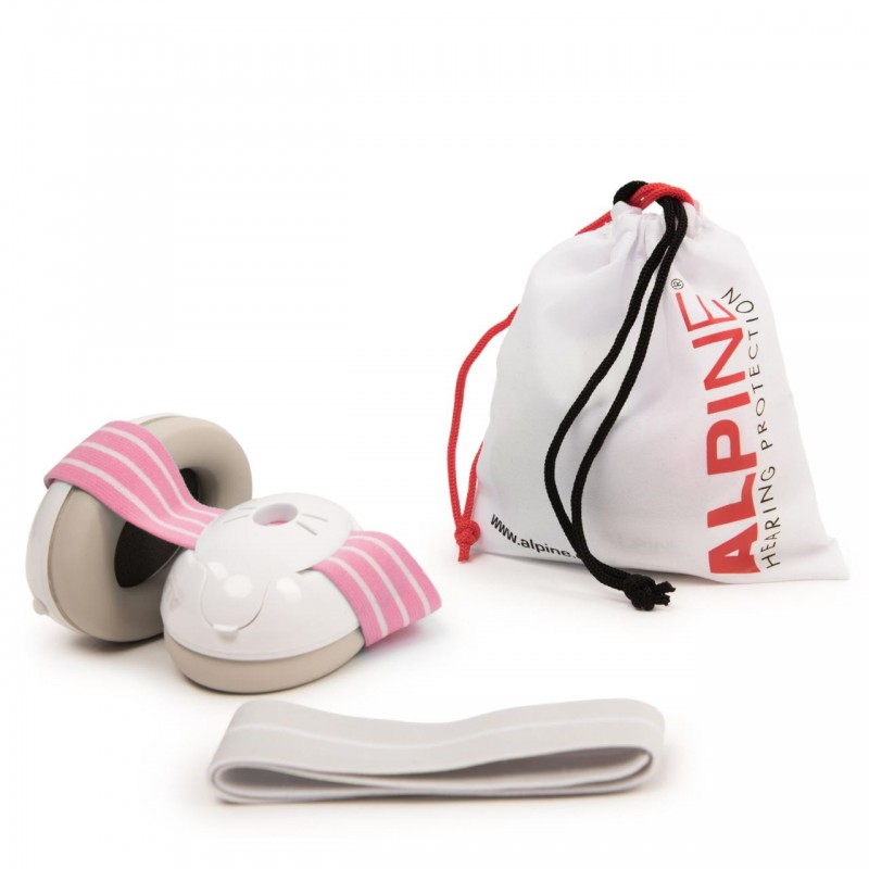 Casti antifonice pentru bebelusi Alpine Muffy, nivel atenuare 36 dB, Baby Pink 2021 shopu.ro