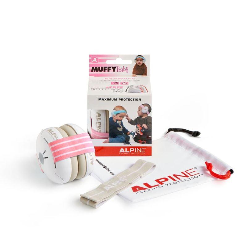 Casti antifonice pentru bebelusi Alpine Muffy, nivel atenuare 36 dB, Baby Pink