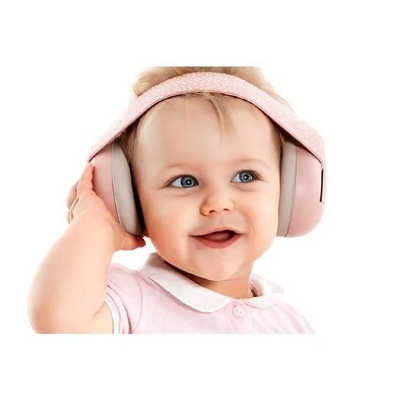 Casti antifonice Reer SilentGuard Baby Boy pentru bebelusi, 3-24 luni, roz