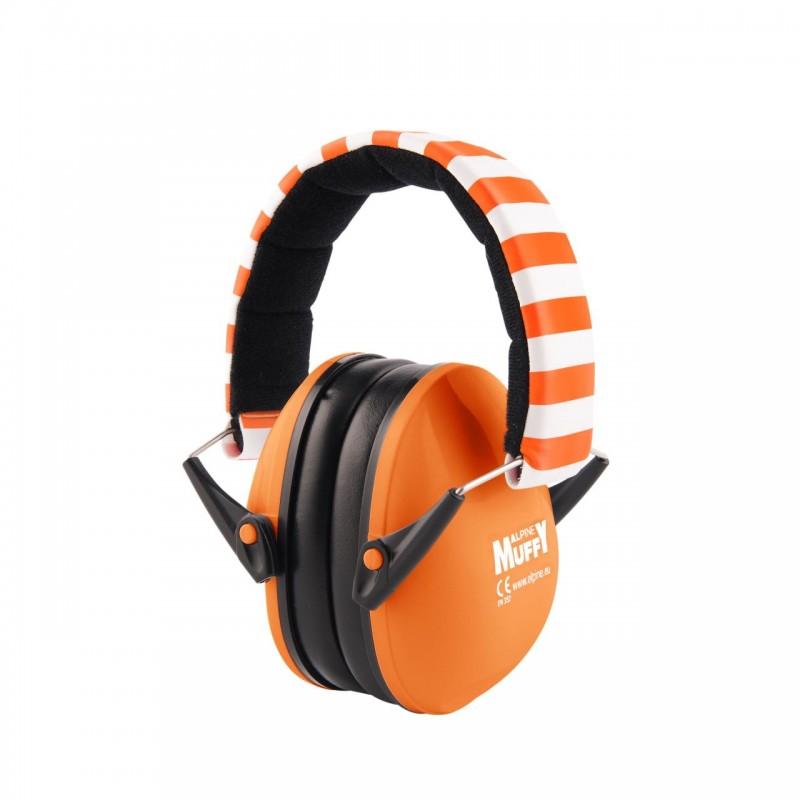 Casti antifonice pentru bebelusi Alpine Muffy, nivel atenuare 36 dB, Baby Orange