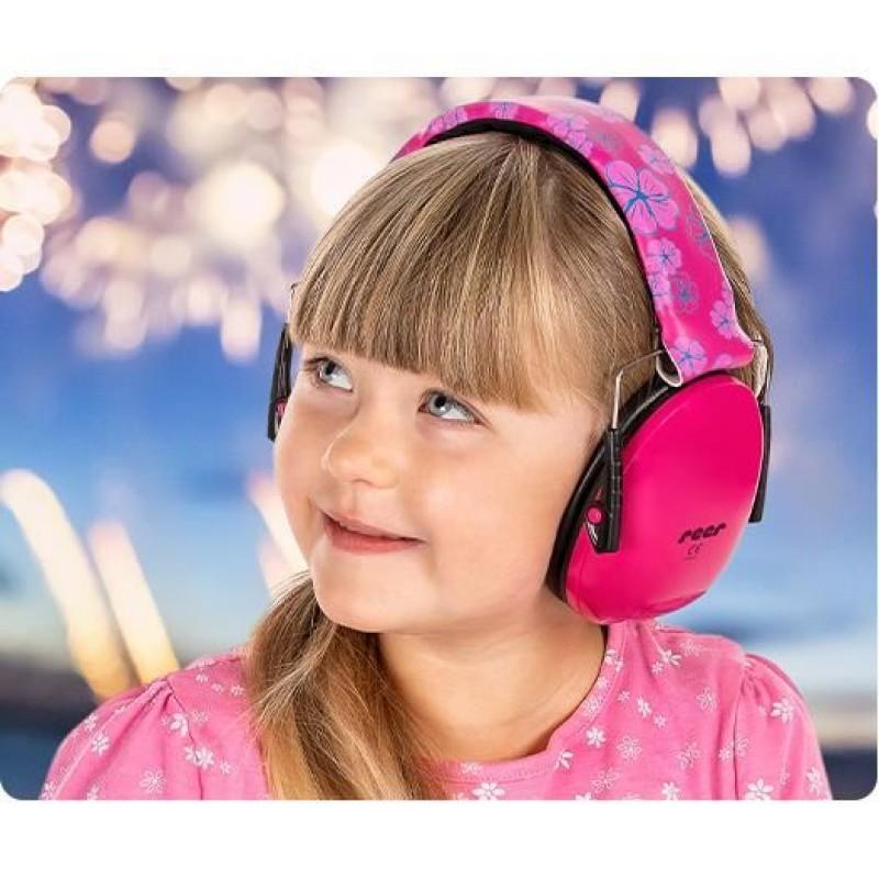 Casti antifonice Reer SilentGuard Baby Boy pentru copii, roz