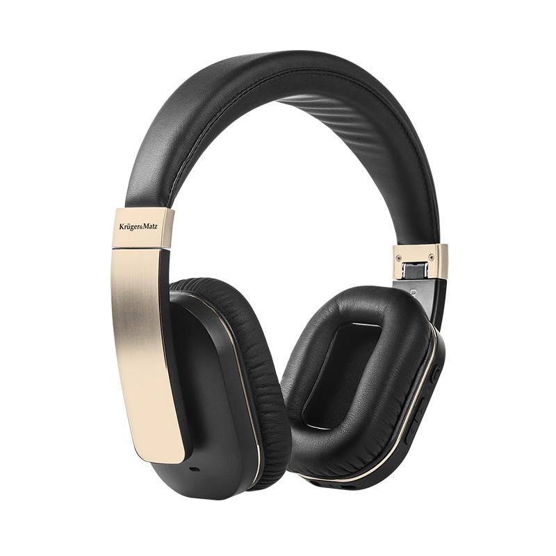 Casti Kruger Matz F5A, Bluetooth, Tehnologie APT-X, functie Active Noise Cancellation, auriu 2021 shopu.ro