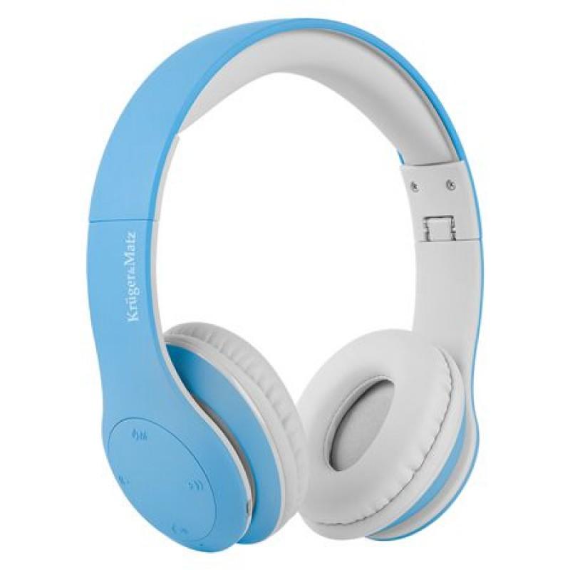 Casti audio Street Kids Kruger & Matz, tehnologie Bluetooth 4.2, microfon incorporat, Albastru 2021 shopu.ro