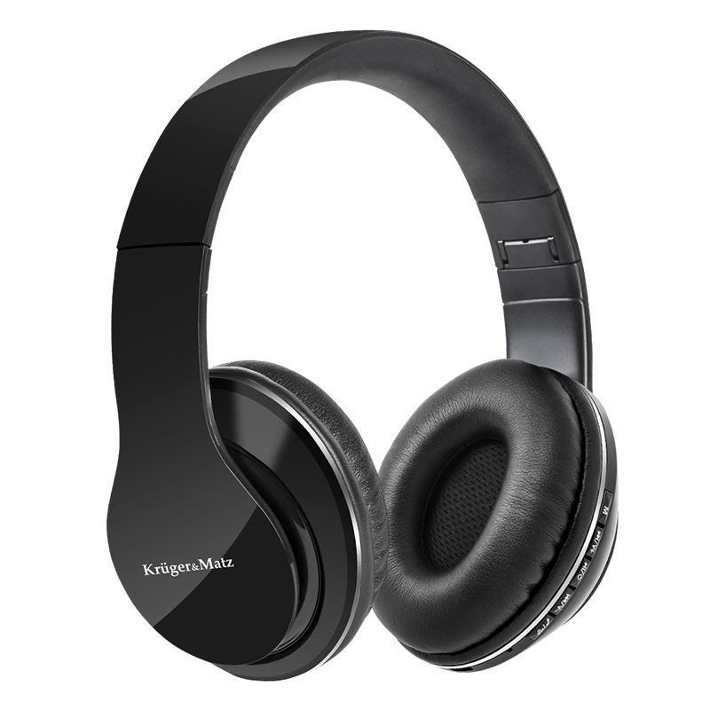 Casti audio Street Kruger & Matz, Bluetooth 4.1, microSD, 110 dB, 300 mAh, Negru 2021 shopu.ro
