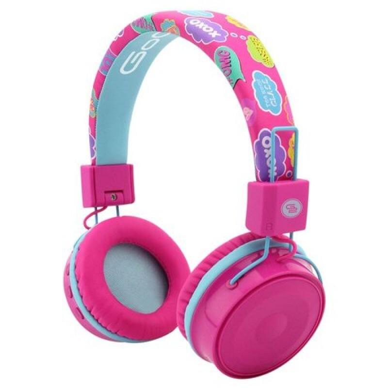 Casti audio pentru fete GoGen, Bluetooth 4.2, 300 mAh, control volum, raza actiune 10 m, microfon incorporat, Multicolor 2021 shopu.ro