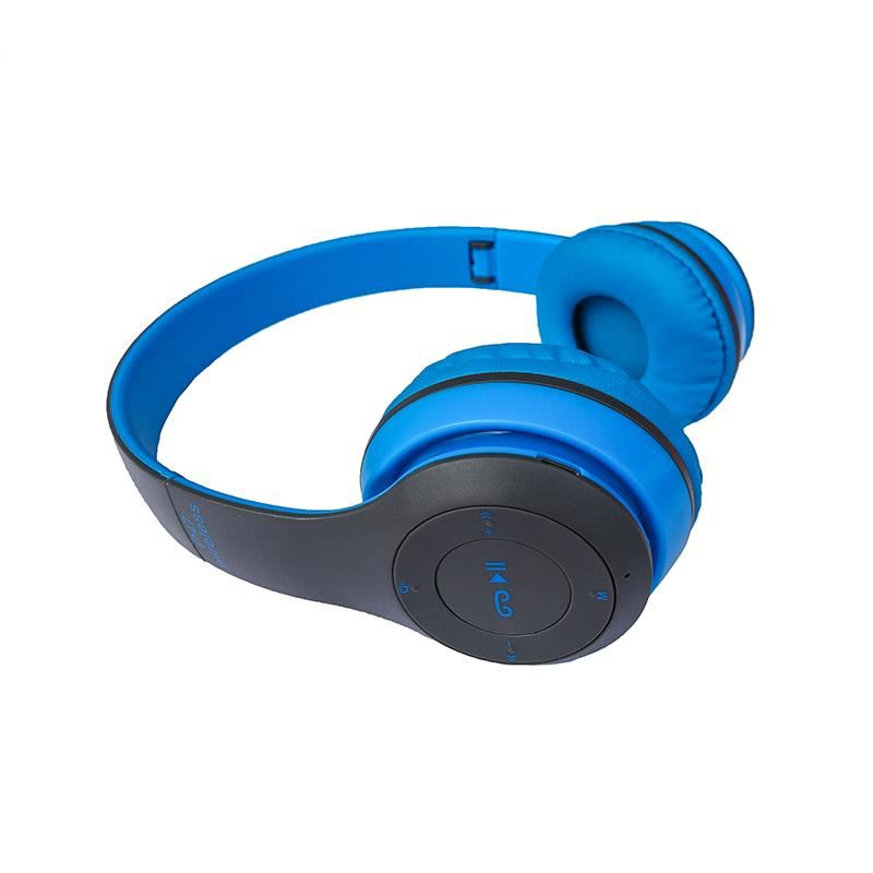 Casti pliabille Siegbert, P47, wireless, bluetooth, jack 3.5 mm, Albastru 2021 shopu.ro