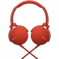Casti audio Sony Extra Bass, difuzor neodim 30 mm, Rosu