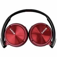 Casti audio tip DJ Sony, control telefon, difuzor 30 mm, pliabile, microfon incorporat, Rosu