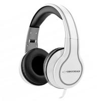 Casti audio stereo Blues Esperanza, 32 Ohm, 105 dB, control volum, Alb