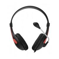 Casti audio Rooster Esperanza, 32 ohm, jack 3.5 mm, cablu 2 m, control volum, microfon incorporat, Negru/Rosu