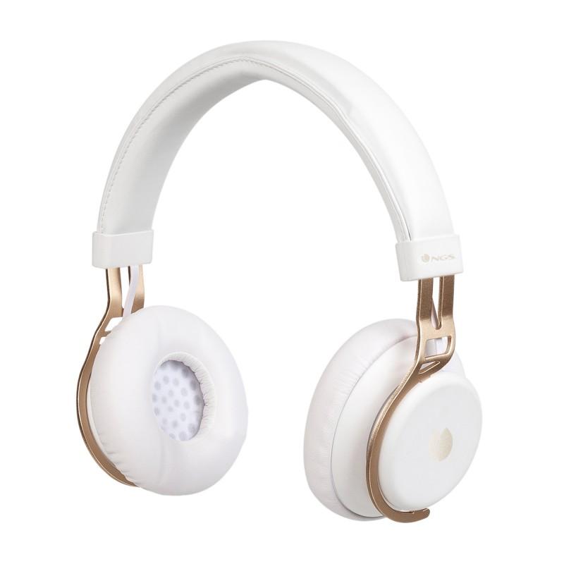 Casti Bluetooth NGS Artica Lust, autonomie 10 ore, Alb 2021 shopu.ro