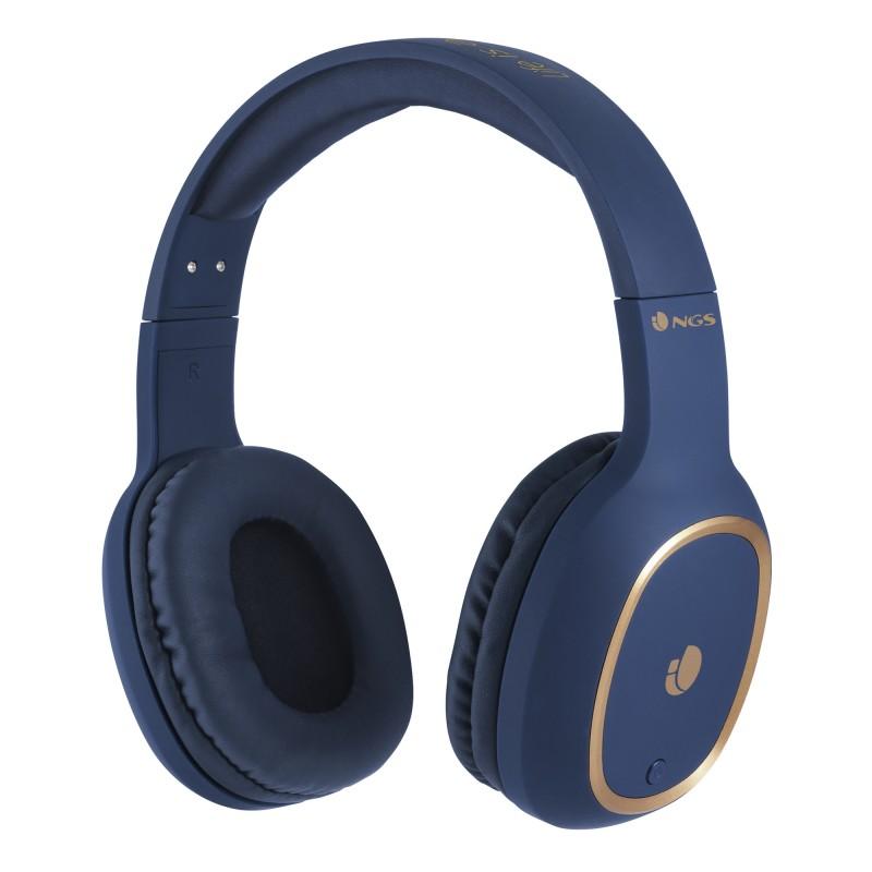 Casti Bluetooth Artica Pride Ride NGS, 10 m, conexiune microUSB, 180 mAh, Albastru 2021 shopu.ro