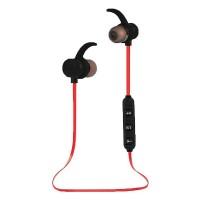 Casti Bluetooth cu magnet Esperanza, 10 m, incarcare USB, Negru/Rosu