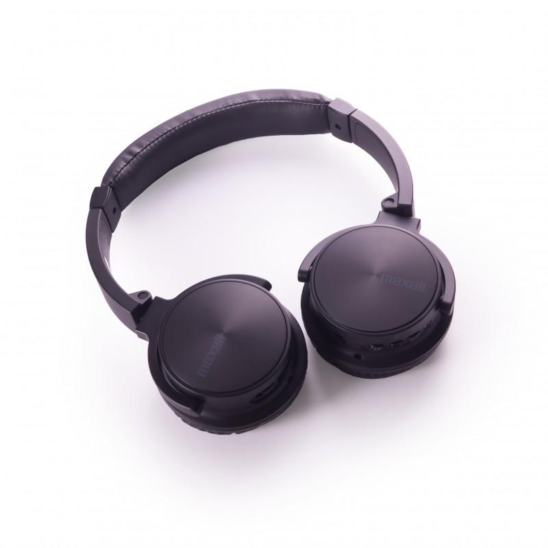 Casti Bluetooth MXH-BT900 Maxell, incarcare USB, mufa 3.5 mm, Negru