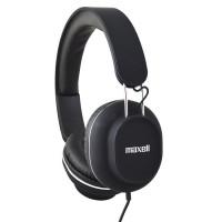 Casti audio Maxell, jack 3.5 mm, microfon incorporat, Negru
