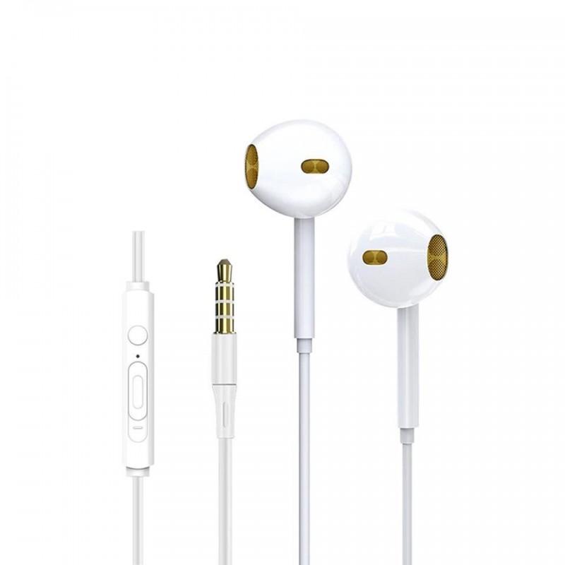 Casti cu fir si microfon Siegbert, cablu 120 cm, jack 3.5 mm, Alb 2021 shopu.ro
