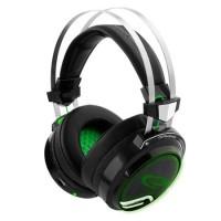 Casti cu microfon Gaming BloodHunter Esperanza, USB, 32 Ohm, Negru/Verde