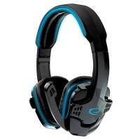 Casti audio cu microfon Gaming Raven, 32 Ohm, Jack 3.5 mm, Negru/Albastru