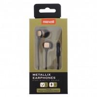 Casti in ear Metallix Maxell, 3.5 mm, microfon, Auriu