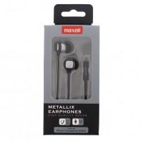 Casti in ear Metallix Maxell, 3.5 mm, microfon, Gri