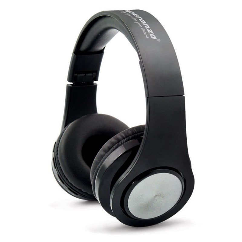 Casti stereo Flexi Esperanza, Bluetooth 3.0, wireless, raza actiune 10 m, Negru 2021 shopu.ro