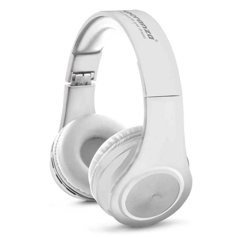 Casti stereo Flexi Esperanza, Bluetooth 3.0, raza actiune 10 m, cablu USB, pliabile, microfon incorporat, Negru 2021 shopu.ro