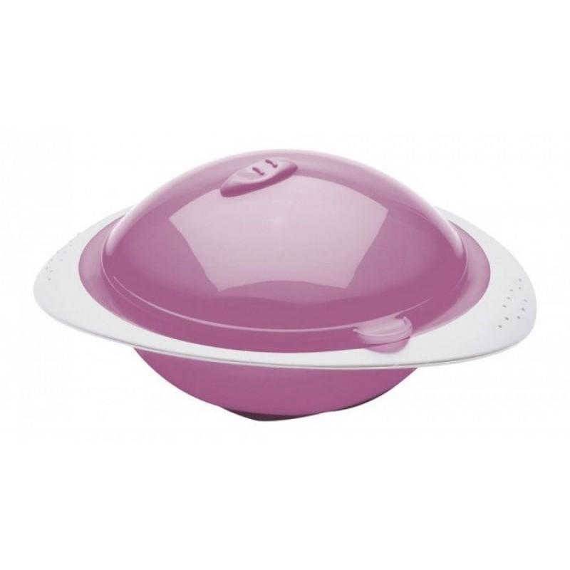 Bol cu capac Thermobaby, plastic, 6 luni+, model orchid pink 2021 shopu.ro