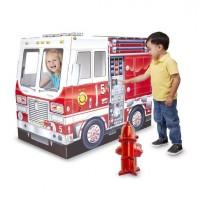 Casuta din carton Camionul de pompieri, Melissa and Doug