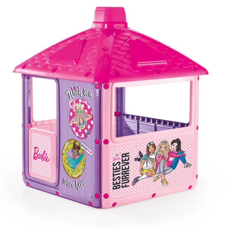 Casuta pentru copii Barbie, 3 geamuri, 135 x 104 x 104 cm 2021 shopu.ro