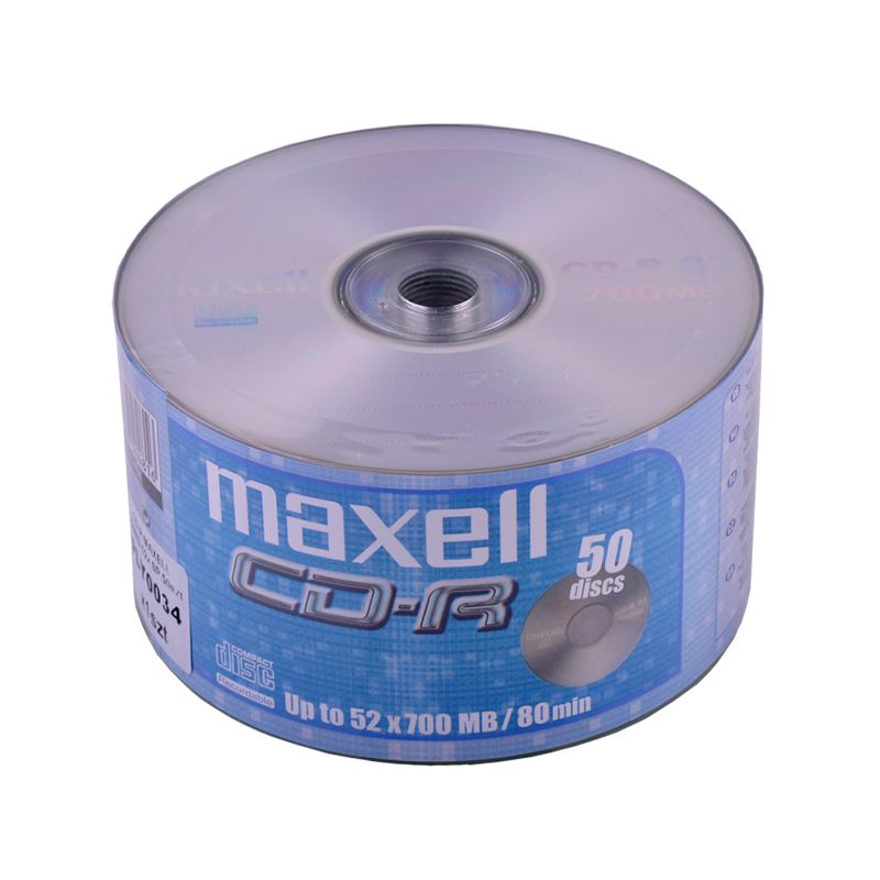 Pachet Bulk Spindle CD-R Maxell, capacitate 700 MB, viteza scriere 52X, 50 bucati 2021 shopu.ro