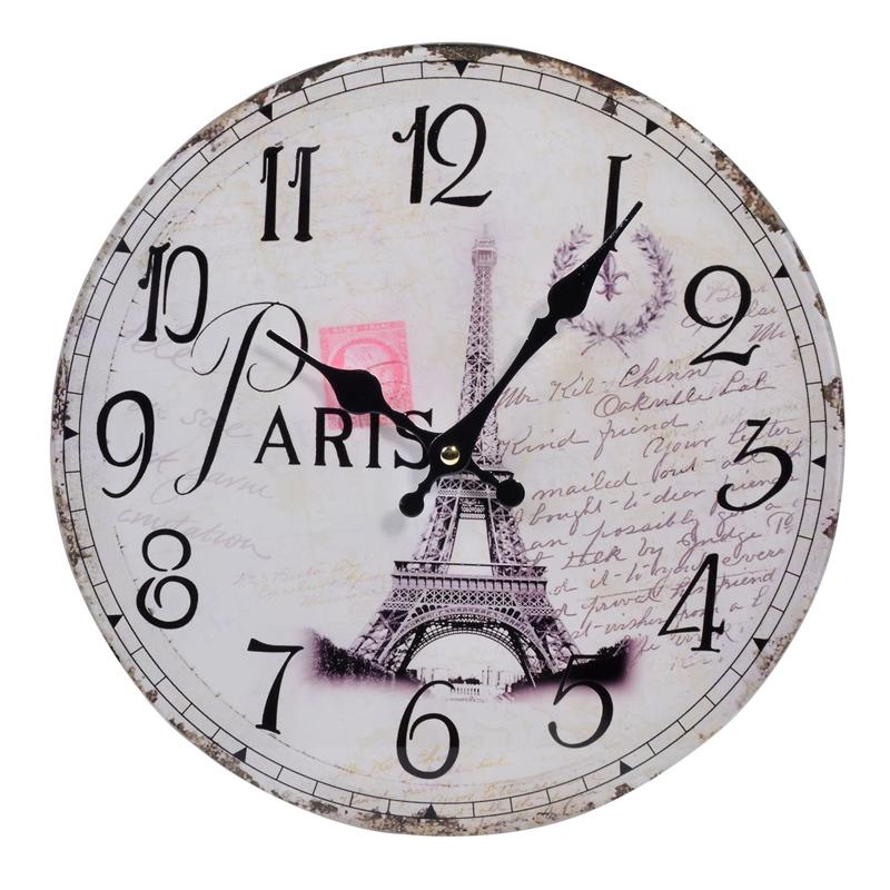 Ceas de perete, 30 cm, imprimeu Paris 2021 shopu.ro