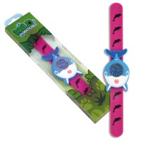 Ceas pentru copii Keycraft, 25 x 5.5 x 2 cm, silicon, 3 ani+, model delfin