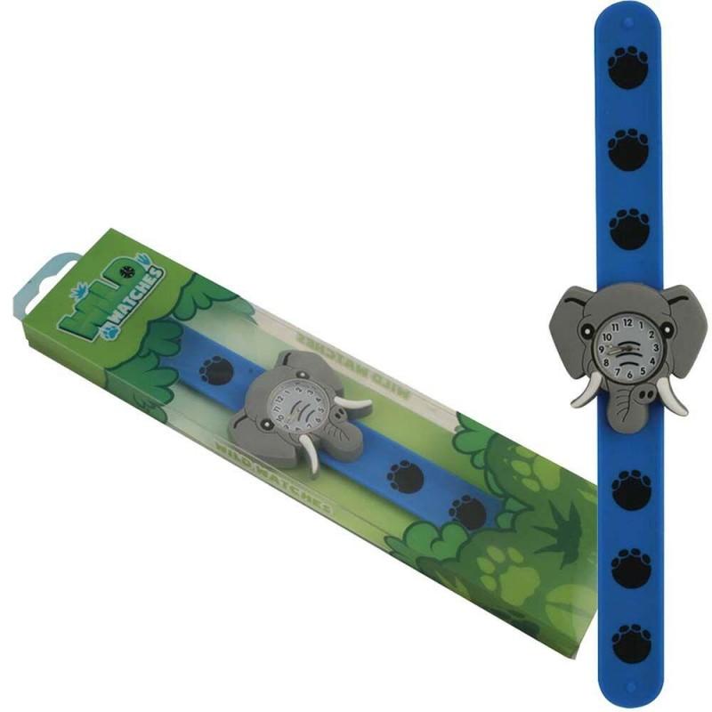 Ceas pentru copii Keycraft, 25 x 5.5 x 2 cm, silicon, 3 ani+, model elefant 2021 shopu.ro