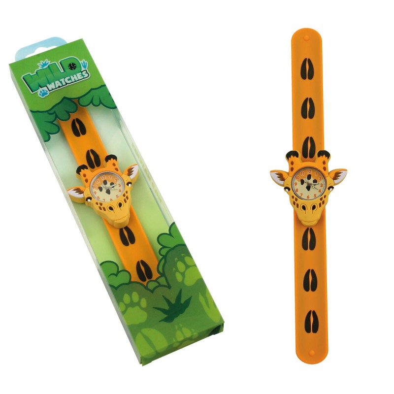 Ceas pentru copii Keycraft, 25 x 5.5 x 2 cm, silicon, 3 ani+, model girafa 2021 shopu.ro